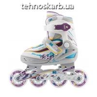 Китай роликовые коньки раздвижные re:action rainbow rn16g0p / размер 26-31