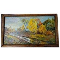 Картина Худ. Хоров 1994 живопись осень картон,масло