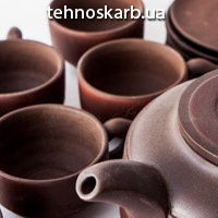 Сервиз чайный глиняный Золотой Дракон 6 персон