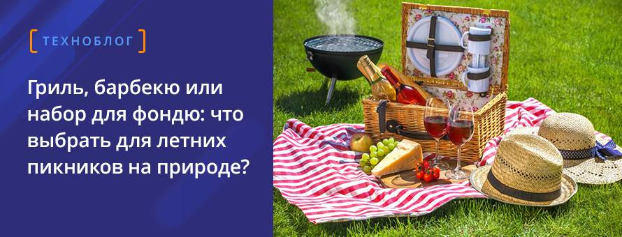 Гриль, барбекю или набор для фондю: что выбрать для летних пикников на природе?