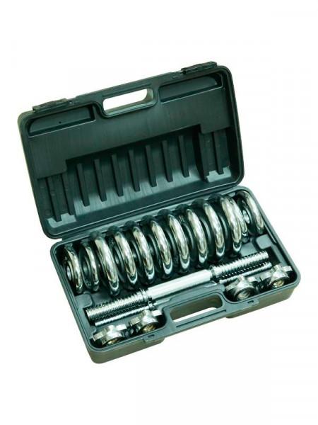 Гантели Fitlogic home dumbbell chrome set box bdb-15