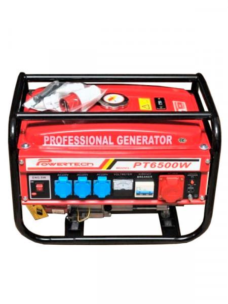 Бензиновый электрогенератор Powertech pt6500w 6.5кв