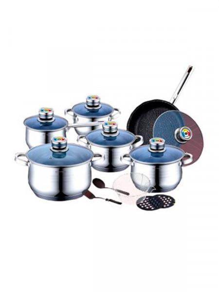 Набір столового посуду Vinzer каструлі 6шт. сковорідка 1щт.
