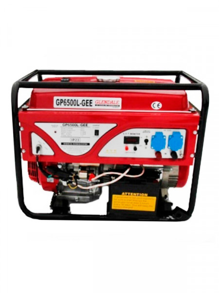 Бензиновый электрогенератор Glendale gp6500l-gee/1