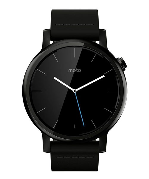 Часы Motorola moto 360 2nd gen mens 42mm, black leather
