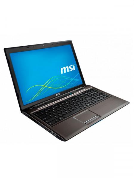 "Ноутбук экран 15,6"" Msi celeron t3300 2,0ghz/ ram2048mb/ hdd160gb/ dvd rw"