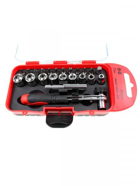 """Набор инструментов - 1/4"""" multi socket wrench set mini with bits and adapter 23pcs"""