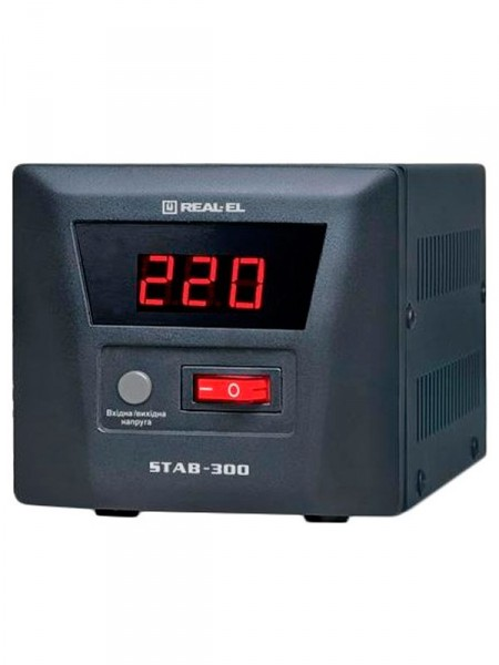 Стабілізатор напруги Real-El stab-300 el122400001