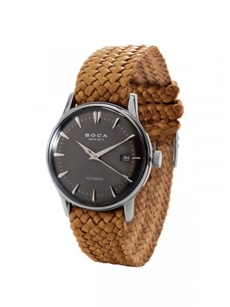 Годинник Alfieri Black - bright tobacco wristband