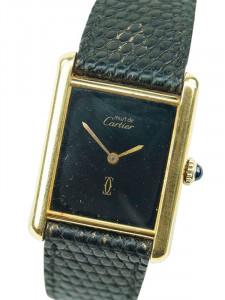 Часы Cartier Paris 925 Argent Plaque OR G20M