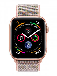 Часы Apple watch sport 44mm gold aluminum case series 4